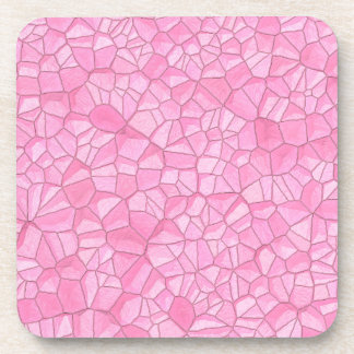 Pink crystal Plastic coasters k - set of 6