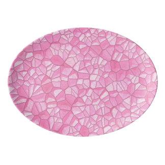 Pink crystal  Porcelain Coupe Platter