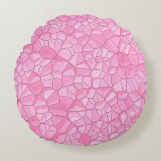 """Pink crystal Round Throw Pillow (16"""")"""