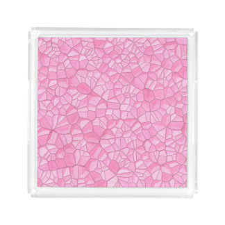 Pink crystal Small Square Tray