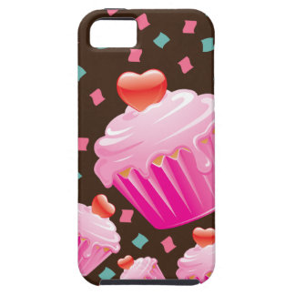 Pink Cupcake and Confetti Cell Phone Case