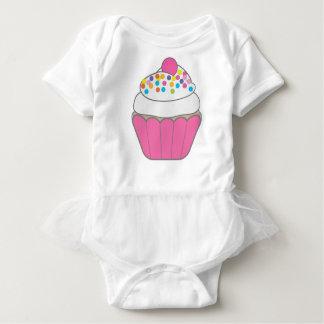 Pink Cupcake Baby Bodysuit