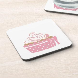 Pink Cupcake Birthday Drink Coaster