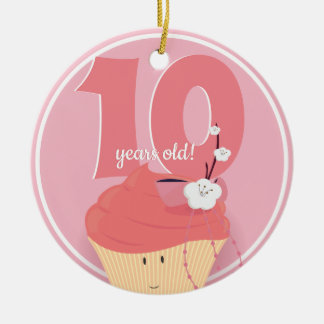 Pink Cupcake Birthday | Ornament