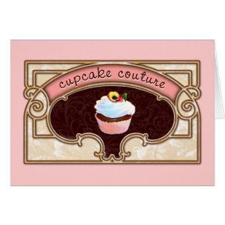 Pink Cupcake Couture Sign Logo Banner Greeting Card