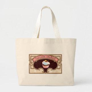 Pink Cupcake Couture Sign Logo Banner Jumbo Tote Bag