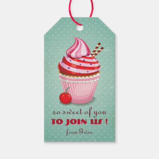Pink Cupcake Gift Tag