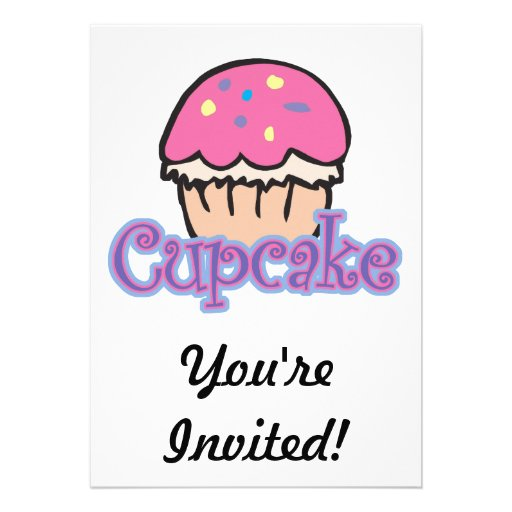 Pink Cupcake Personalized Announcement