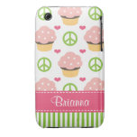 Pink Cupcake iPhone 3 Case-Mate Barely There Case-Mate iPhone 3 Cases