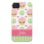 Pink Cupcake iPhone 4 Case-Mate Barely There Cover iPhone 4 Cases