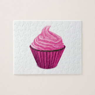 Pink Cupcake Jigsaw Puzzle