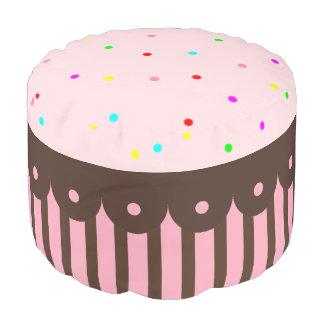 Pink Cupcake Kids Pillow Seat Pouf Ottoman