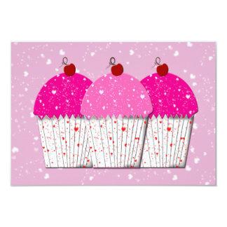 Pink Cupcake Love Thank You Custom Announcement