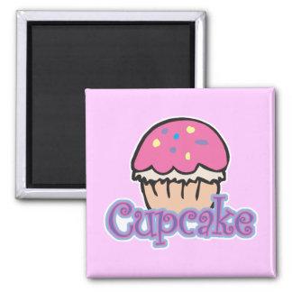 Pink Cupcake Refrigerator Magnet