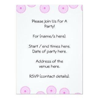Pink Cupcake Pattern. 17 Cm X 22 Cm Invitation Card