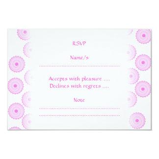 Pink Cupcake Pattern. 9 Cm X 13 Cm Invitation Card