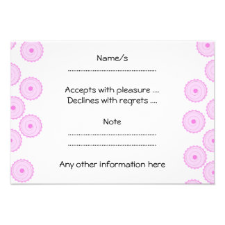 Pink Cupcake Pattern Personalized Announcements
