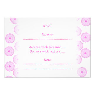 Pink Cupcake Pattern. Personalized Invite