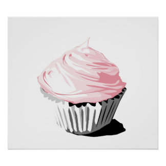 Pink cupcake print