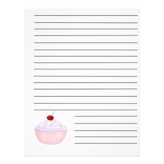 Pink Cupcake Recipe Binder Pages 21.5 Cm X 28 Cm Flyer
