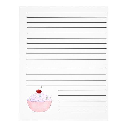 Pink Cupcake Recipe Binder Pages Flyer Design