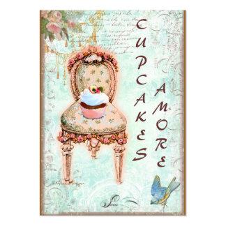 Pink Cupcake & Roses Business Cards