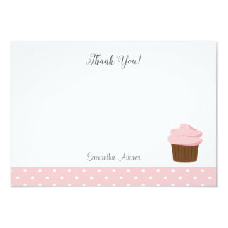Pink Cupcake Thank You Card 9 Cm X 13 Cm Invitation Card
