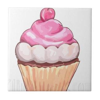 Pink cupcake tile