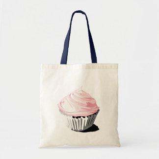 Pink cupcake tote budget tote bag