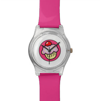 Pink Cupcake with Cherry Adjustable Watch