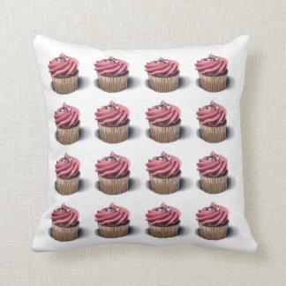 Pink Cupcakes Art Pillow