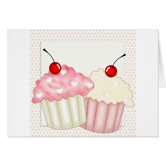 Pink Cupcakes Card
