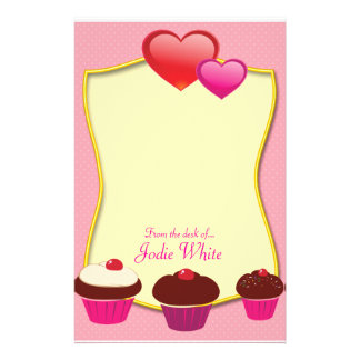 Pink Cupcakes - From the desk of.. Stationery