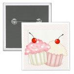 Pink Cupcakes Pinback Button