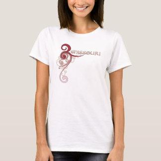 Pink Curly Swirl Missouri T-Shirt