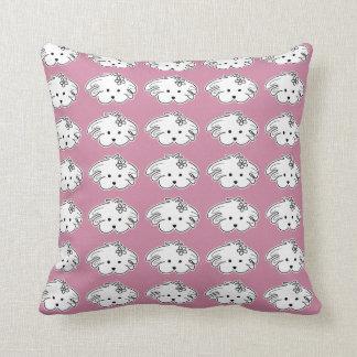 Pink cushion, small dog, the world of Lua Cushion