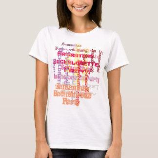Pink custom text bachelorette party T-Shirt