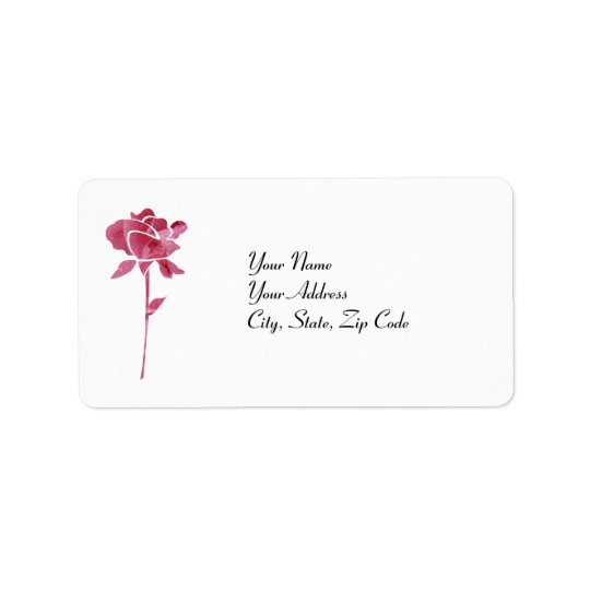 Pink cut Rose address lables Address Label