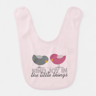Pink Cute Baby Girl Birds Sweet Adorable Tender Bib