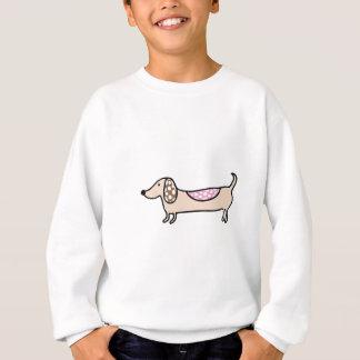 Pink cute dachshunds sweatshirt