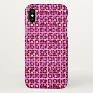 Pink Cute geometric tile pattern iphone case