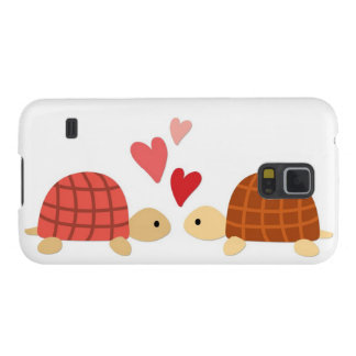 Pink cute turtle love couple case for galaxy s5