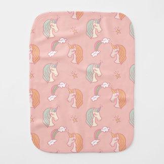 Pink cute Unicorn Pattern Baby Burp Cloths