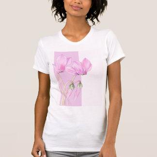 Pink Cyclamens pink Ladies T-Shirt