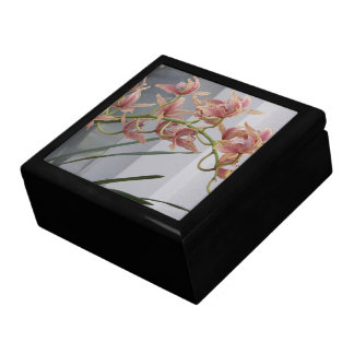 Pink Cymbidium Orchids Floral Large Square Gift Box