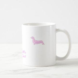Pink Dachshund Mugs