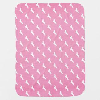 Pink Dachshund Print Baby Blanket