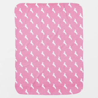 Pink Dachshund Print Receiving Blankets