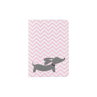 Pink Dachshund Wiener Dog Passport Cover Travel