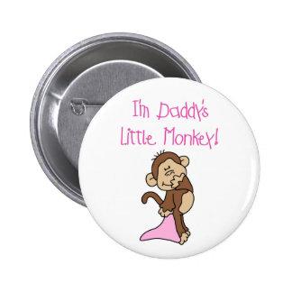 Pink Daddy's Little Monkey 6 Cm Round Badge